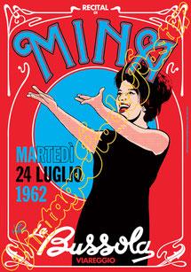 Mina, Mina concerto, Mina Poster, Mina Bussola