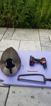 Ausrüstung für die Gänsejagd zum selber machen