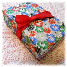 菊柄和紙の玉手箱/和風カルトナージュ