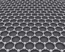 illustration of a graphene sheet