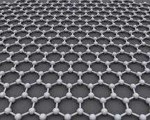 illustration of a graphene sheet