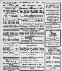 Göttinger Zeitung, 27.02.1919: Wahlversammlungen zur bevorstehenden Kommunalwahl. SA Göttingen