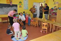 Klassenzimmer in rumänischer Schule