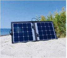 Solarmodule mit PLUG & PLAY und KABELLADEREGLER. Innovative Stoffeinfassung, flexibel einzusetzen, Ösen, Loxx-Knöpfe, Klettband oder Reißverschluss nachrüstbar, Platzsparend verstaubar zusammenklappbare Modulfläche. Effektive Fahrzeug Batterieladung.