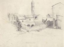 Disegno a matita di Eva Ceconi datato 15.8.1930 (archivio Ceconi - Kitzmüller).