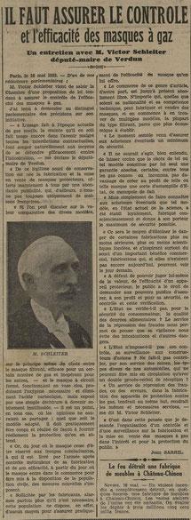 Le télégramme des Vosges, 19 mai 1933