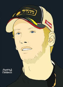 Romain Grosjean by Muneta & Cerracín