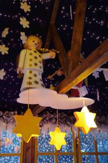 Украшения на рождественском рынке в Нюрнберге