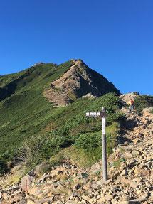 展望荘から見た赤岳