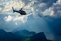 Helikopterflug zum Jungfraujoch