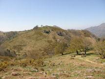 Le SAIBERRI et les palombières depuis XABALO