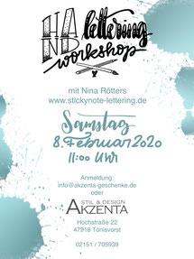 Flyer Handlettering Workshop @Akzenta