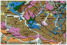 (Ausschnitt aus Geologischer Karte von Bayern, 1996)
