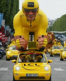 KART LION GÉANT    CRÉDIT LYONNAIS        Caravane Tour de France 2006