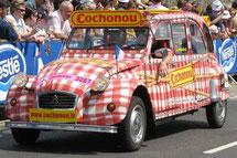 CITROËN 2 CV     LA LIMOUSINE COCHONOU        Caravane Tour de France 2007