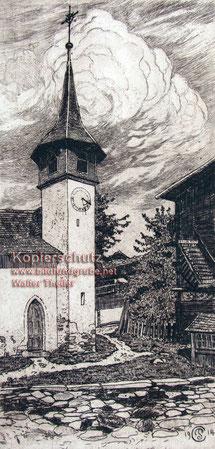 Plinio Colombi, Kapelle von Münster im Oberwallis, 1914