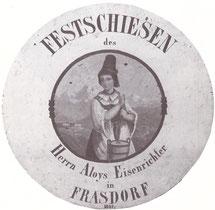 Scheibe von 1861 von Aloys Eisenrichter