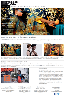 UNSEEN PIECES Fashion Shop - The Africa Inspired Fashion Webshop