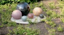 Granitkugel Palette