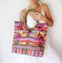 Boho Shopper, Schultertasche, Damentasche, Tasche aus Mexiko, Mexikanische Tasche, Tasche mit Stickerei, bunte Handtasche, Shopper aus Mexiko, Stofftasche aus Mexiko, Boho Tasche, Hippie Tasche, EThno Tasche aus Mexiko, bestickte Tasche aus Mexiko
