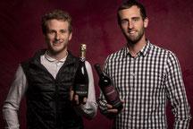 Enrico (l) en Matteo Bresolin zijn trots op hun bio wijnen