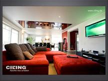 Bild Beispiel Wohnzimmer mit Spanndecke CILING Produktwelt