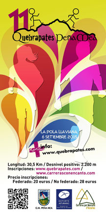 XI QUEBRAPATES-PEÑA MEA - Pola de Laviana, 06-09-2015