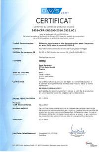 Certification EN 1090-2 EXC2