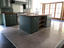Terrazzoboden in einer Küche auf dem Obersalzberg - Exklusiver Terrazzoküchenboden