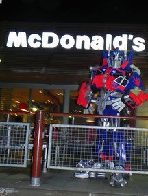 mc donald's transformers ,  transformers robots in disguise , animation transformers , mascotte transformers , kids