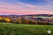 """Bild: Blick auf Tiefendorf, Hagen, NRW """"fading light""""; www.2u-pictureworld.de"""