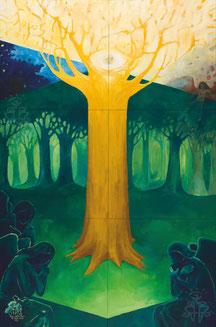Erschaffung des Menschen Raoul Rossmy Praelogos-Zyklus Paradies Engel Baum der Erkenntnis Paradise God Angel