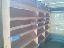 création d'étagére pour véhicule d'artisan