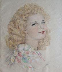Nadine Brey, maraine de Nadine Boudousquié-Bilis 1948