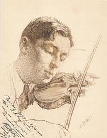 Milstein, musicien  1923