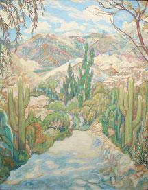 Torrent cordillère des Andes 1925 95x78 huile sur toile André Aaron Blils