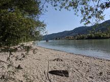 Donaustrand, Donauvilla Jochenstein, Untergriesbach, Jochenstein, Strand, Baden, Donau