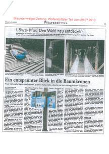 Braunschweiger Zeitung Wolfenbüttel vom 28.07.2010