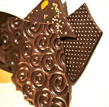 Lauses (lamelles de chocolat) biologiques et équitables d'origine Equateur, Sao Tomé ou République Dominicaine, au sésame, agrumes