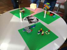 Lego-Aufbau