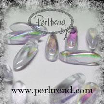 Glastropfen-Perlen Violett