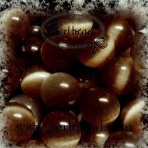 Katzenaugen-Perlen Braun