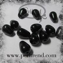 Glastropfen Perlen schwarz www.perltrend.com