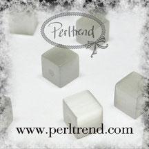 Katzenaugen-Perlen Weiss