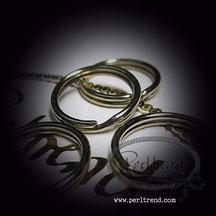 Spaltringe platinfarben www.perltrend.com