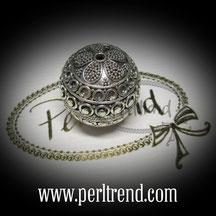 Silber Perlen Verziert www.perltrend.com