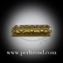 Abstandhalter goldfarben 3 Löcher Swarovski Crystal