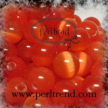 Katzenaugen-Perlen Rot