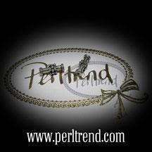 Silber Perlen Röhre www.perltrend.com