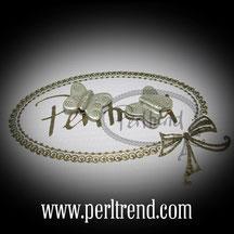 Silber Perlen Schmetterling www.perltrend.com